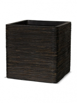 Capi Nature Pot square rib II brown