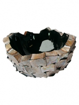 Natural Mother of Pearl Plant Pot
