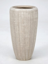 Polystone white Plant Pot