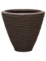Polystone brown Plant Pot