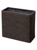 Capi Nature Planter rectangle I brown 20cm Wide & 41cm High