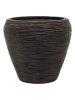 Capi Nature Vase tapering round rib I brown 31cm Wide & 28cm High