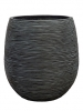 Capi Nature Pot rib ball I black 25cm Wide & 28cm High