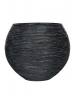 Capi Nature Vase ball rib I black 40cm Wide & 32cm High