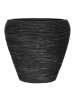 Capi Nature Vase tapering round rib I black 31cm Wide & 28cm High