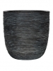 Capi Nature Egg planter rib I black 28cm Wide & 26cm High