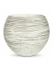 Capi Nature Vase ball rib III ivory 22.5cm Wide & 19cm High