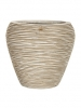 Capi Nature Vase tapering round rib I ivory 31cm Wide & 28cm High