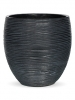 Capi Nature Vase elegance rib III black 19cm Wide & 19cm High