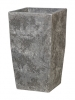 Polystone Timeless Square lava raw grey 33cm Wide & 58.5cm High