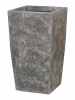 Polystone Timeless Square lava raw grey 43cm Wide & 78cm High